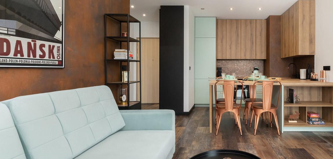 Mieszkanie w industrialnym klimacie. Projekt wnętrza: Aneta Subda. Zdjęcia: Renters