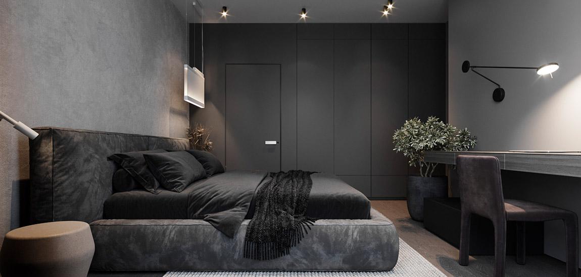 Przytulne mieszkanie w kontrastowych barwach. Projekt wnętrz:Aeteam.design