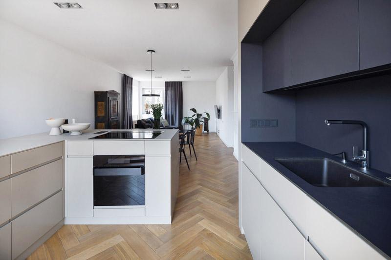 Mieszkanie w willi międzywojennej w Katowicach. Projekt wnętrz: Amok Architecture   Olga Kurek