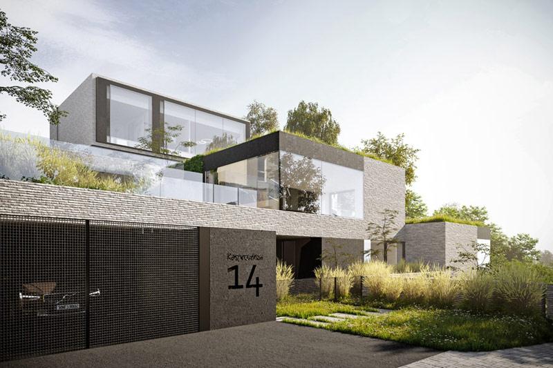 Gdyński Dom Transmodernistyczny projektu Pracowni 111. Wizualizacje: Blok Studio