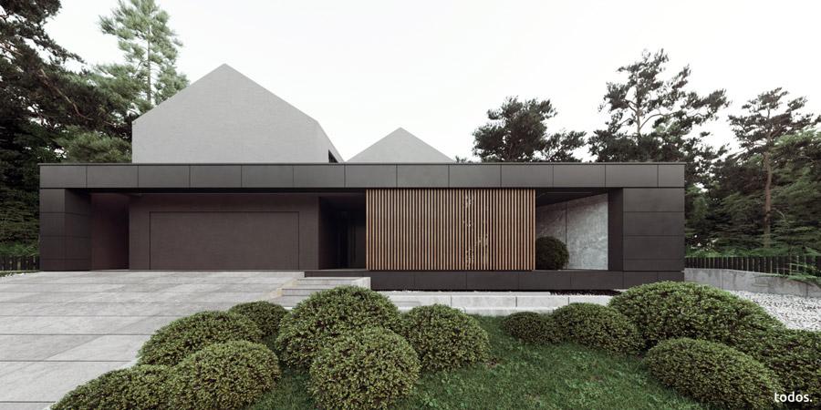 Dom pod Poznaniem. Projekt: todos.architekci