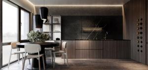 Niewielkie mieszkanie pełne stylowych i eleganckich połączeń
