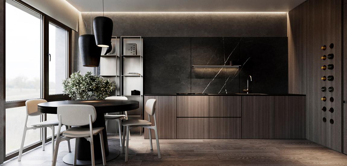 Niewielkie mieszkanie pełne stylu i elegancji. Projekt wnętrz:Aeteam.design