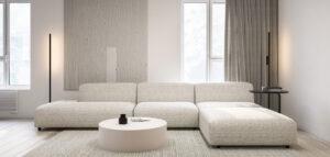 Minimalistyczny i przytulny apartament w stonowanych odcieniach bieli i czerni