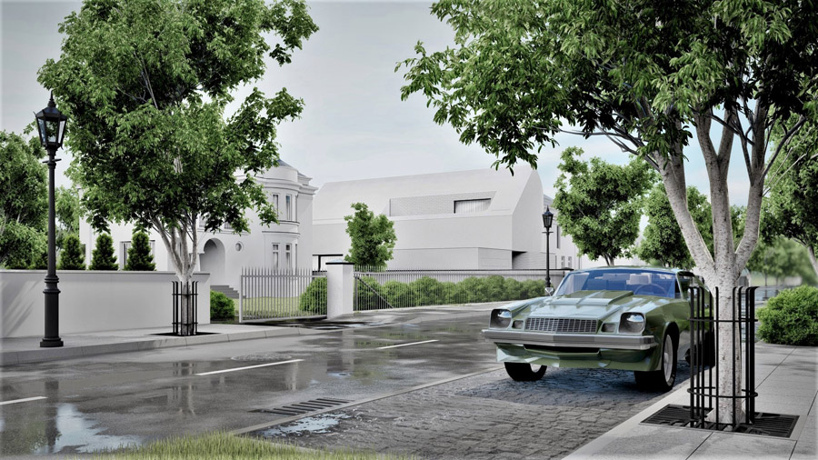 Biały dom w Warszawie. Projekt:CORE – Człowiek | Pasja | Architektura