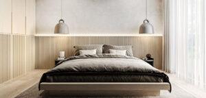 Stonowane kolory, naturalne materiały i miękkie formy we wnętrzach gdyńskiego mieszkania