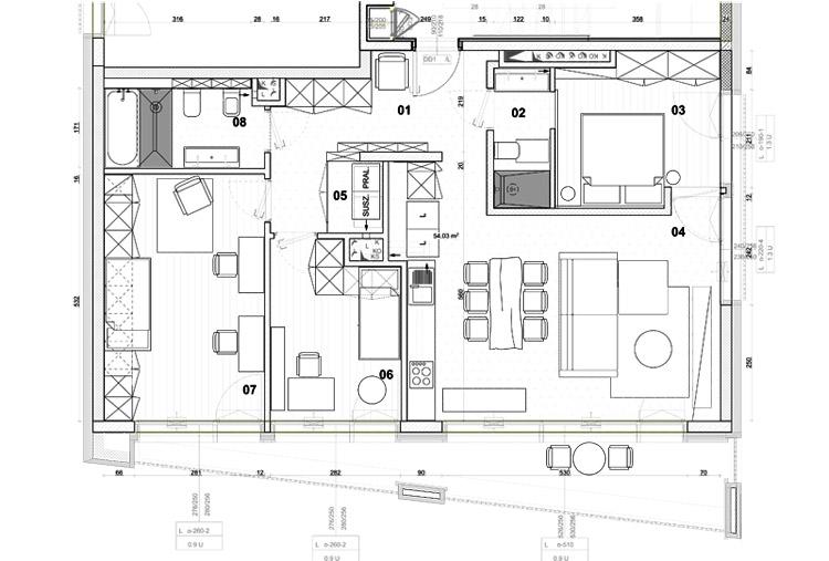 Niezwykłe mieszkanie inspirowane podróżami. Projekt:Mili Młodzi Ludzie.