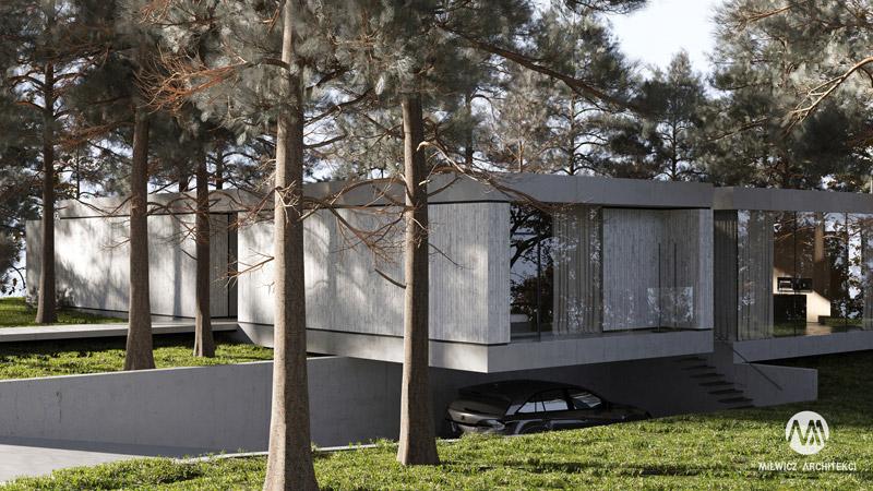 """Dom """"The Forest House"""". Projekt:Milwicz Architekci"""