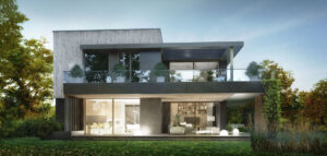 Współczesny dom inspirowany architekturą modernistycznych willi południowego Wrocławia